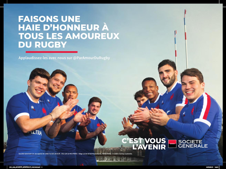 Publicis Sport et Société Générale font une Haie d'Honneur à tous les amoureux du Rugby